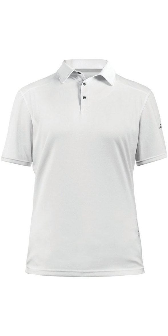 2019 Zhik Womens Zhikdry Lt Short Sleeve Polo Top White 0870W - 0870W - Polo  Shirts - Shore Wear  56ef692e06