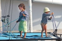 Children on a sailboat