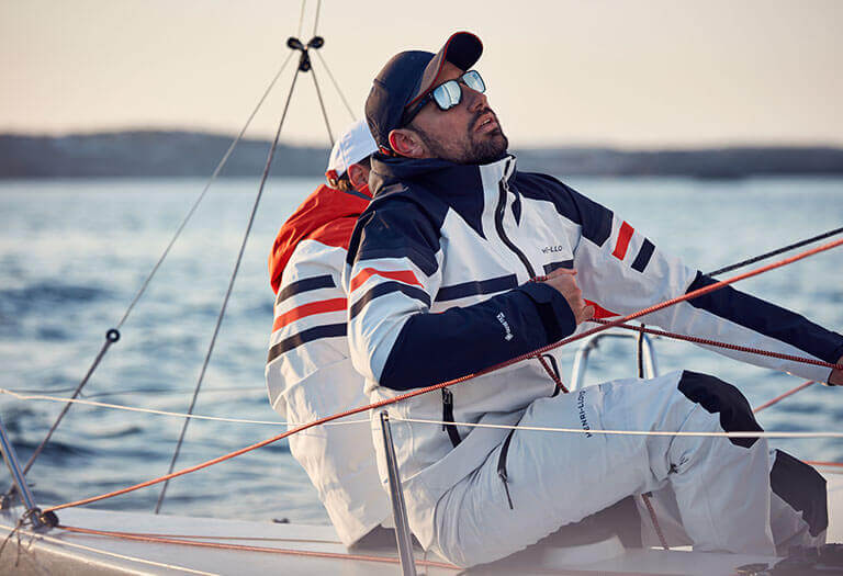 New in sailing jackets and trousers