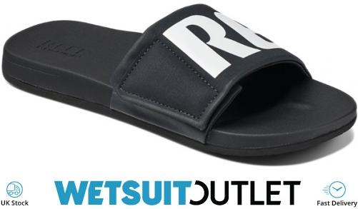 e3f811a52d0 2018 Reef Mens Cushion Bounce Slide Sandals Flip Flops Black White  Rf0a3ol5bio - Flip | Wetsuit Outlet