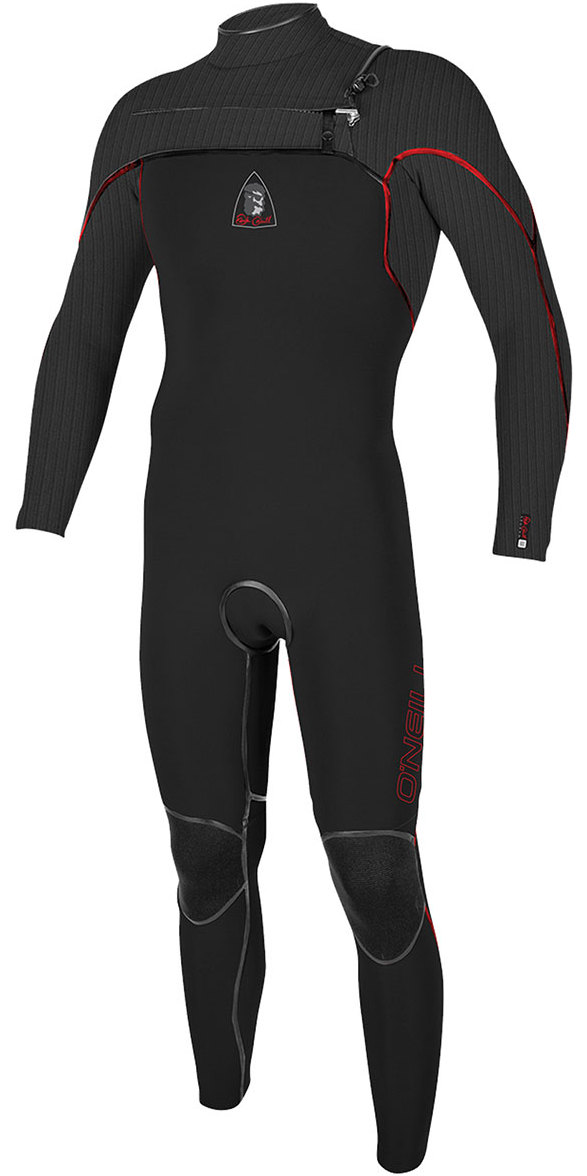 Jack O'Neill Legend 3.5/2mm GBS Chest Zip Wetsuit Black / Red - LTD EDITION 5223