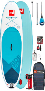 2020 Red Paddle Co Ride 10'8 Inflatable Stand Up Paddle Board - Carbon 100 Paddle Package