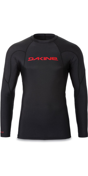 2018 Dakine Heavy Duty Snug Fit Long Sleeve Rash Vest Black 10001655