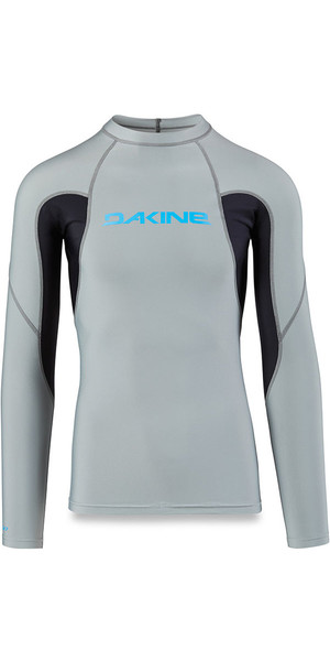 2018 Dakine Heavy Duty Snug Fit Long Sleeve Rash Vest Carbon 10001655