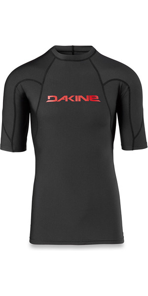 2018 Dakine Heavy Duty Snug Fit Short Sleeve Rash Vest Black 10001656