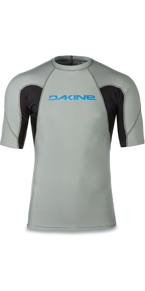 2018 Dakine Heavy Duty Snug Fit Short Sleeve Rash Vest Carbon 10001656