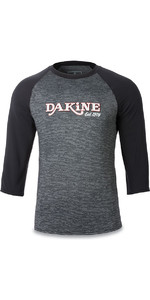 Dakine Roots Ragaln Loose Fit 3/4 Sleeve Surf Shirt Black Heather 10001665