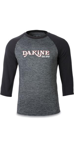 2018 Dakine Roots Ragaln Loose Fit 3/4 Sleeve Surf Shirt Black Heather 10001665