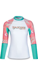 Dakine Womens Flow Print Snug Fit Long Sleeve Rash Vest Waikiki 10001677