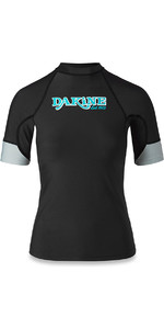 Dakine Womens Flow Snug Fit Short Sleeve Rash Vest Black 10001680