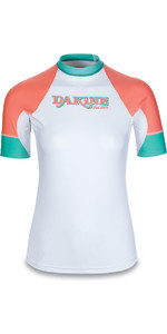 Dakine Womens Flow Snug Fit Short Sleeve Rash Vest Waikiki 10001680