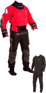 2020 Typhoon Multisport 4 Four Drysuit Including Con Zip & Underfleece Red / Black 100140