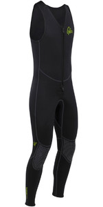 2019 Palm Quantum 3mm Neoprene Front Zip Long John Wetsuit BLACK 12235