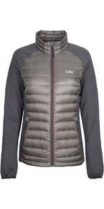 2019 Gill Womens Hybrid Down Jacket Pewter 1064W