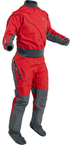 2019 Palm Womens Cascade Front Zip Kayak Drysuit + Drop Seat Flame Red 12369