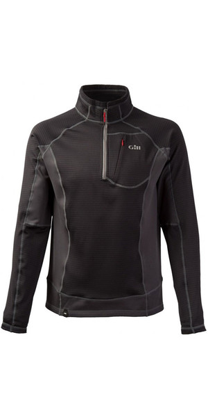 2019 Gill Thermogrid Zip Neck Fleece Ash 1344