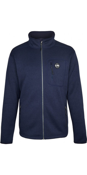 2018 Gill Mens Knit Fleece Jacket Navy 1493