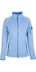 2021 Gill Womens Knit Fleece Jacket Blue 1493W