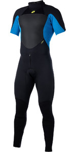 2019 Magic Marine Mens Ultimate 3/2mm Back Zip Short Arm Wetsuit Blue 170051