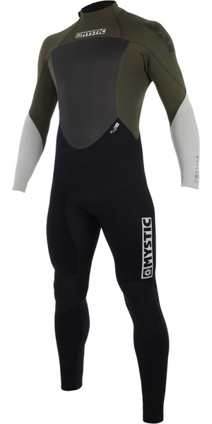 2019 Mystic Star 5/4mm GBS Back Zip Wetsuit Dark Olive 180018