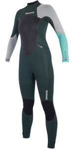 2019 Mystic Women Star 5/4mm Back Zip Wetsuit Teal 180029