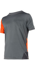 2019 Magic Marine Mens Cube Quick Dry Short Sleeve Top Orange 180062