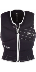 2019 Mystic Womens Star Front Zip Kite Impact Vest Black / White 180090