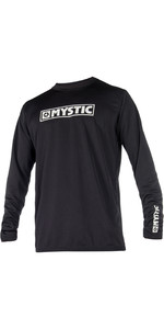2019 Mystic Star Long Sleeve Loosefit Quick Dry Rash Vest Black 180106