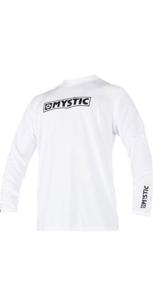 2019 Mystic Star Long Sleeve Loosefit Quick Dry Rash Vest White 180106