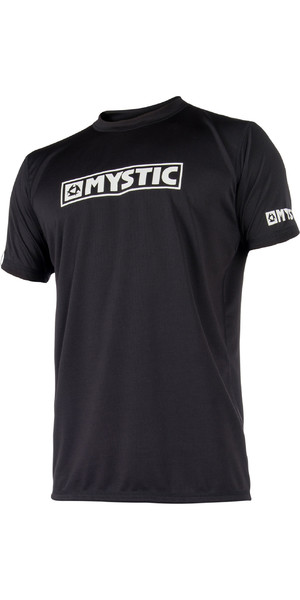 2019 Mystic Star Short Sleeve Loosefit Quick Dry Rash Vest Black 180107