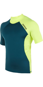 2019 Mystic Crossfire Short Sleeve Rashvest Lime 180111