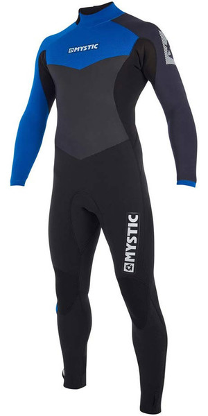 2019 Mystic Drip 5/4mm Back Zip Wetsuit Blue 190009