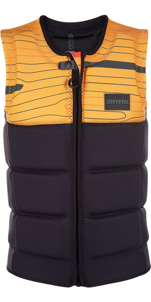 2019 Mystic Marshall Front Zip Wake Impact Vest Black 1900126