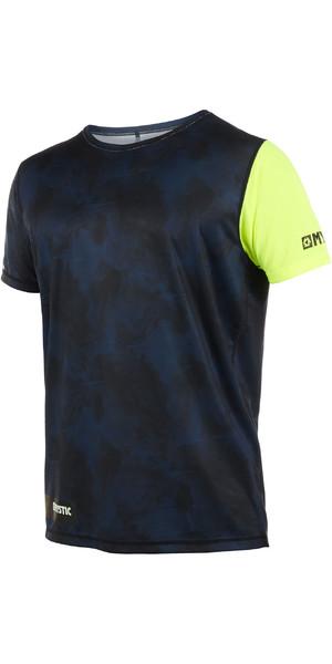 2019 Mystic Majestic Mens Short Sleeve Loosefit Quick Dry Rash Vest Lime 190092