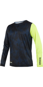 2019 Mystic Majestic Mens Long Sleeve Loosefit Quick Dry Rash Vest Lime 190093
