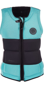 2019 Mystic Womens Dutchess Front Zip Wake Impact Vest Mint 190129