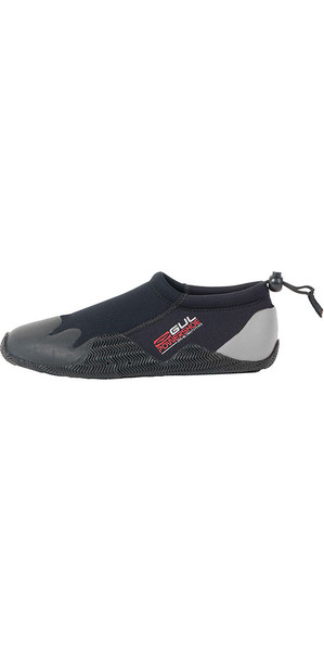 2019 Gul Kids, Child, Junior 3mm Power Slipper Shoe Black / Grey BO1267