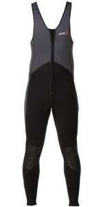 2020 Yak Kayak Front Zip 3mm Long John Wetsuit Grey / Black  5403-A
