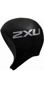 2018 2XU Neoprene Swim Cap Black UW1481F