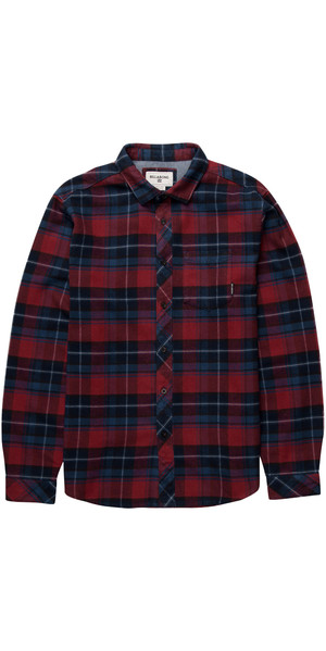 Billabong Henderson Long Sleeve Shirt RED Z1SH07