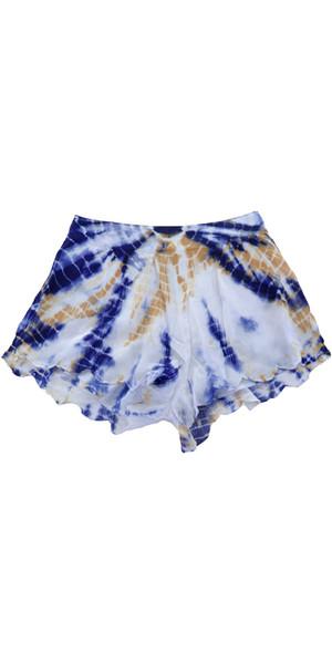 Billabong Ladies Beyond Sunrise Shorts Crinkle - Blue Cruz W3WK04
