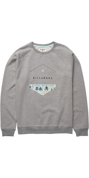 Billabong Split Hex Crew Sweatshirt GREY HEATHER Z1CR03
