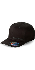 2018 Dakine Silicone Rail Flexfit Cap in Black 08640040