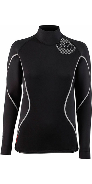 2018 Gill Ladies 2.5mm THERMOSKIN Long Sleeve Neoprene TOP Black 4616W