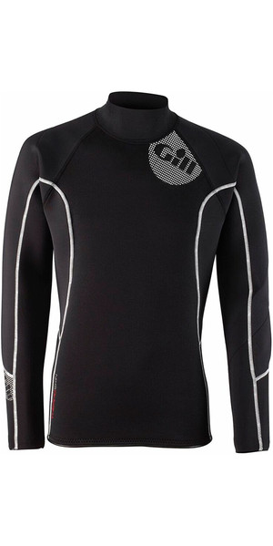 2018 Gill Mens 2.5mm THERMOSKIN Long Sleeve Neoprene TOP Black 4616
