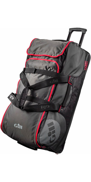 2019 Gill Rolling Jumbo 115L Bag Dark Grey / Red Detail L057