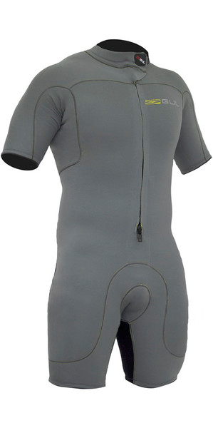 Gul Code Zero 3/2mm Front Zip Shorty Wetsuit METAL CZ3301