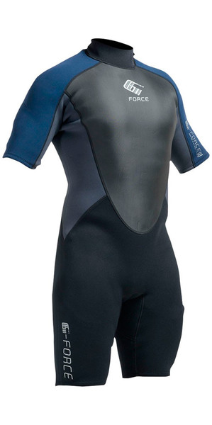 2018 Gul G-Force 3mm Mens Shorty Wetsuit Black / Navy GF3305-A9