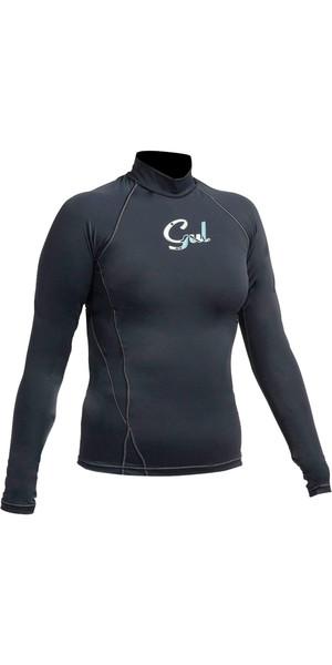 2018 Gul Ladies Swami Long Sleeved Rash Vest BLACK RG0331-A9