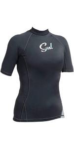 Gul Womens Swami Short Sleeve Rash Vest Black RG0330-A9